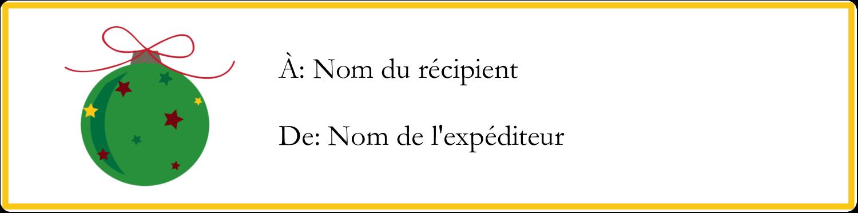 """1⅓"""" x 4"""" Étiquettes d'adresse - Boule étoilée"""