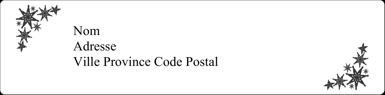 """1"""" x 4"""" Étiquettes d'adresse - Angle étoilé"""