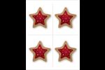 Biscuit en forme d'étoile Cartes Et Articles D'Artisanat Imprimables - gabarit prédéfini. <br/>Utilisez notre logiciel Avery Design & Print Online pour personnaliser facilement la conception.