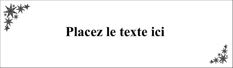 """2½"""" x 8½"""" Affichette - Angle étoilé"""