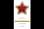 Biscuit en forme d'étoile Carte d'affaire - gabarit prédéfini. <br/>Utilisez notre logiciel Avery Design & Print Online pour personnaliser facilement la conception.