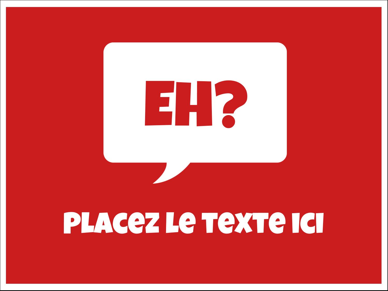 """3"""" x 4"""" Badges - Parlez-vous canadien eh? (Rouge)"""