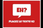 Parlez-vous canadien eh? (Rouge) Badges - gabarit prédéfini. <br/>Utilisez notre logiciel Avery Design & Print Online pour personnaliser facilement la conception.