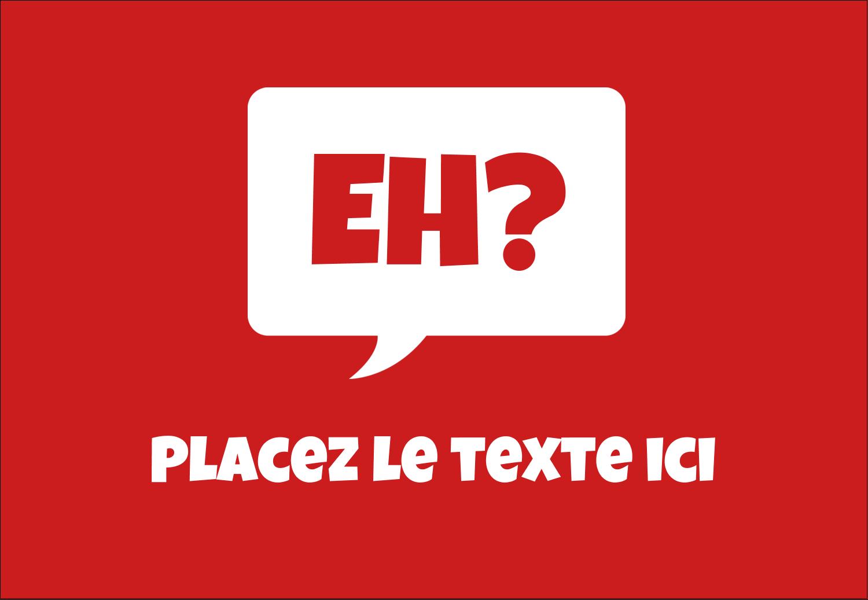 """3⅜"""" x 2⅓"""" Badges - Parlez-vous canadien eh? (Rouge)"""