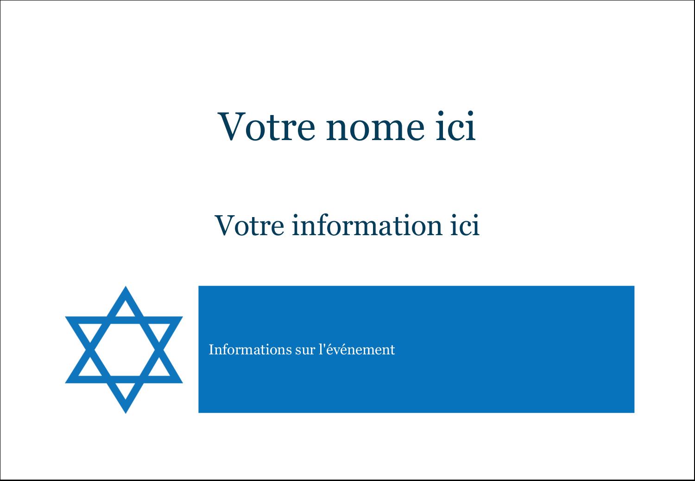 """1¼"""" Étiquettes à codage couleur - Étoile de David"""