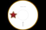 Biscuit en forme d'étoile Étiquettes de classement - gabarit prédéfini. <br/>Utilisez notre logiciel Avery Design & Print Online pour personnaliser facilement la conception.