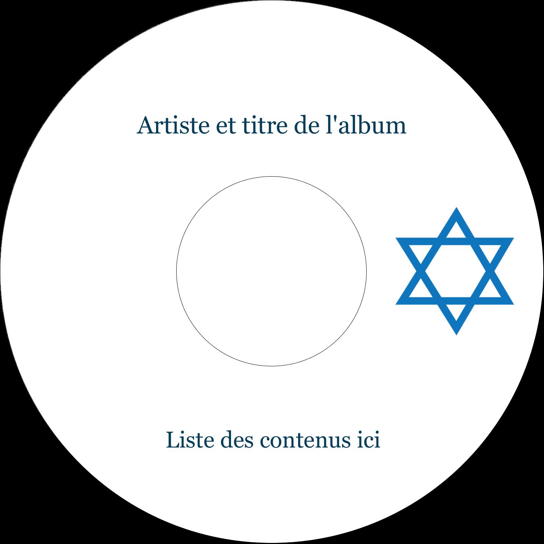 """⅔"""" x 3-7/16"""" Étiquettes de classement - Étoile de David"""