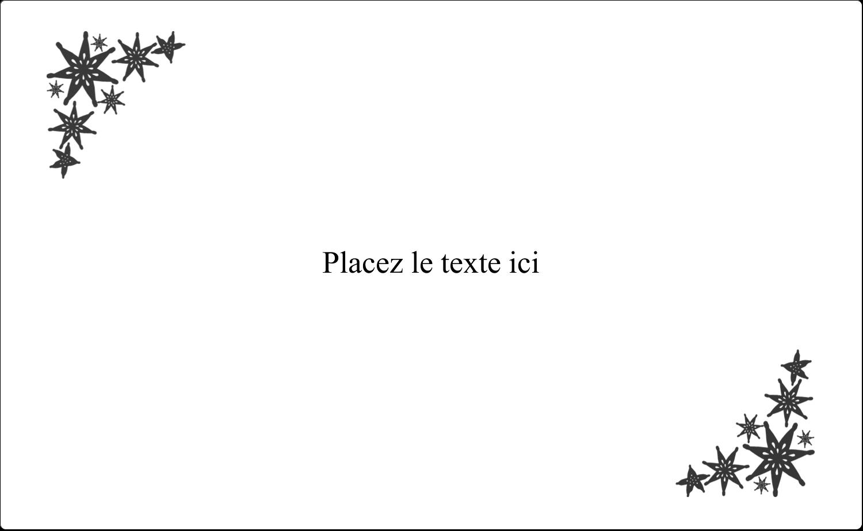 """8⅛"""" x 5"""" Étiquettes d'expéditions - Angle étoilé"""