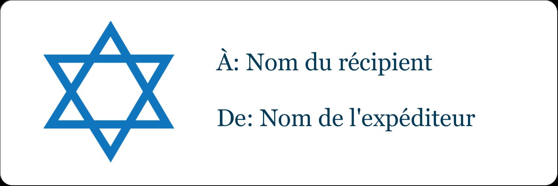 """¾"""" Étiquettes à codage couleur - Étoile de David"""
