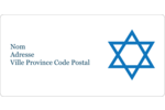 Étoile de David Étiquettes Polyvalentes - gabarit prédéfini. <br/>Utilisez notre logiciel Avery Design & Print Online pour personnaliser facilement la conception.