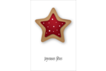 Biscuit en forme d'étoile Reliures - gabarit prédéfini. <br/>Utilisez notre logiciel Avery Design & Print Online pour personnaliser facilement la conception.