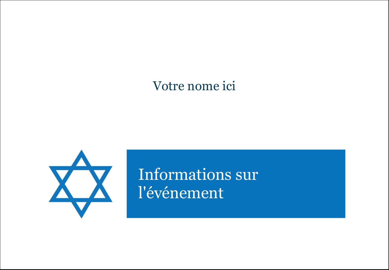 """2-11/12"""" x 3⅜"""" Étiquettes badges autocollants - Étoile de David"""