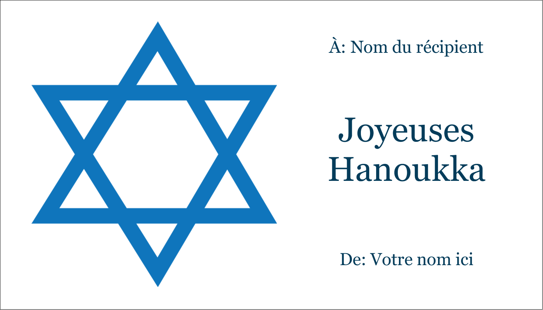 """3"""" x 5"""" Cartes Pour Le Bureau - Étoile de David"""