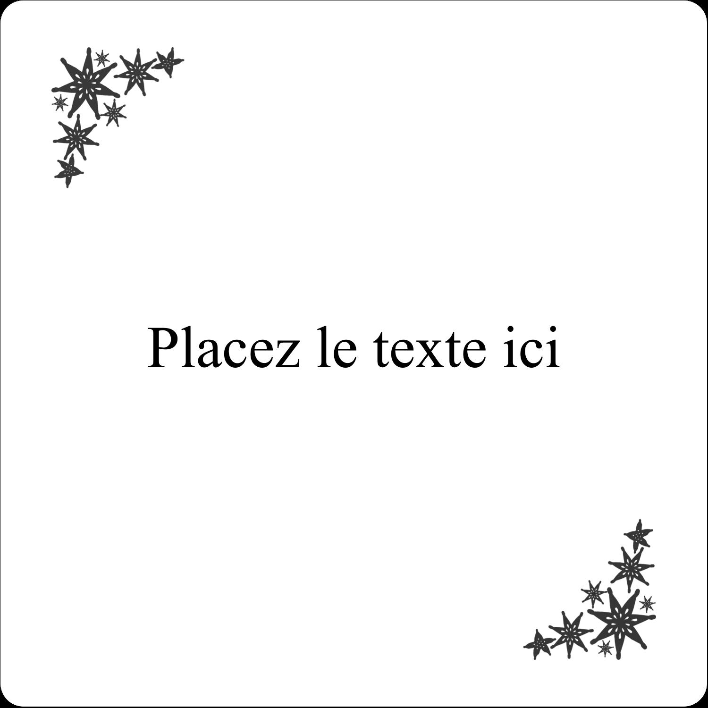 """1½"""" x 1½"""" Étiquettes D'Identification - Angle étoilé"""