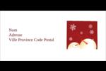 Bonhommes de neige rouges Étiquettes Pour Copieurs - gabarit prédéfini. <br/>Utilisez notre logiciel Avery Design & Print Online pour personnaliser facilement la conception.