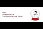 Globe de bonhomme de neige Étiquettes Pour Copieurs - gabarit prédéfini. <br/>Utilisez notre logiciel Avery Design & Print Online pour personnaliser facilement la conception.