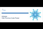 Flocon de neige Étiquettes Pour Copieurs - gabarit prédéfini. <br/>Utilisez notre logiciel Avery Design & Print Online pour personnaliser facilement la conception.