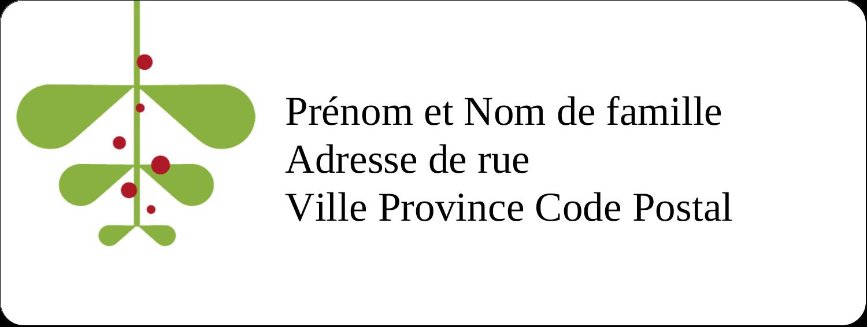 """1½"""" x 4"""" Étiquettes D'Adresse - Branche de gui"""