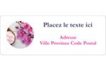 Glaçage et orchidée rose Étiquettes D'Adresse - gabarit prédéfini. <br/>Utilisez notre logiciel Avery Design & Print Online pour personnaliser facilement la conception.