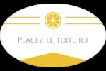 Petite icône d'agrume Étiquettes carrées - gabarit prédéfini. <br/>Utilisez notre logiciel Avery Design & Print Online pour personnaliser facilement la conception.