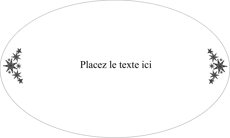 """1½"""" x 2½"""" Étiquettes ovales - Angle étoilé"""