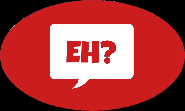 """1½"""" x 1½"""" Étiquettes carrées - Parlez-vous canadien eh? (Rouge)"""