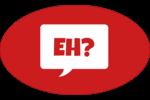 Parlez-vous canadien eh? (Rouge) Étiquettes carrées - gabarit prédéfini. <br/>Utilisez notre logiciel Avery Design & Print Online pour personnaliser facilement la conception.