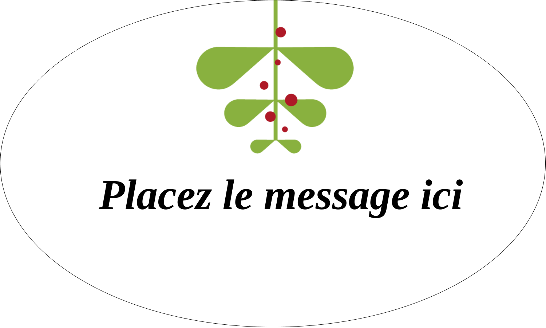 """1½"""" x 1½"""" Étiquettes carrées - Branche de gui"""