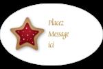 Biscuit en forme d'étoile Étiquettes carrées - gabarit prédéfini. <br/>Utilisez notre logiciel Avery Design & Print Online pour personnaliser facilement la conception.