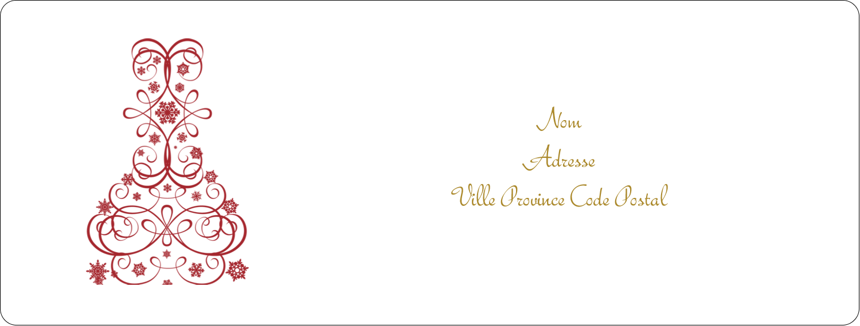 """1"""" x 4"""" Étiquettes d'adresse - Bouteille de champagne en spirale"""