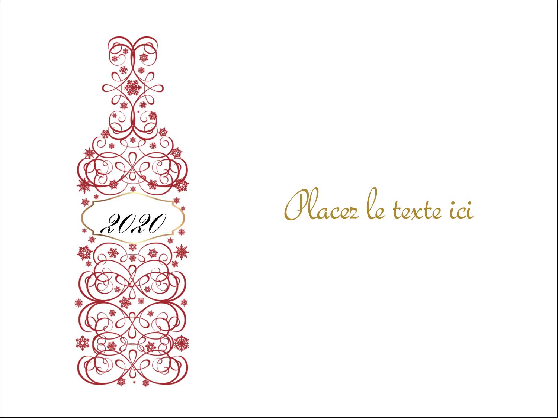 """3"""" x 4"""" Badges - Bouteille de champagne en spirale"""