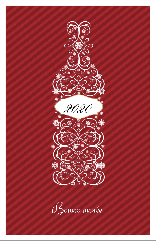 "8½"" x 11"" Binder Insert Reliures - Bouteille de champagne en spirale"