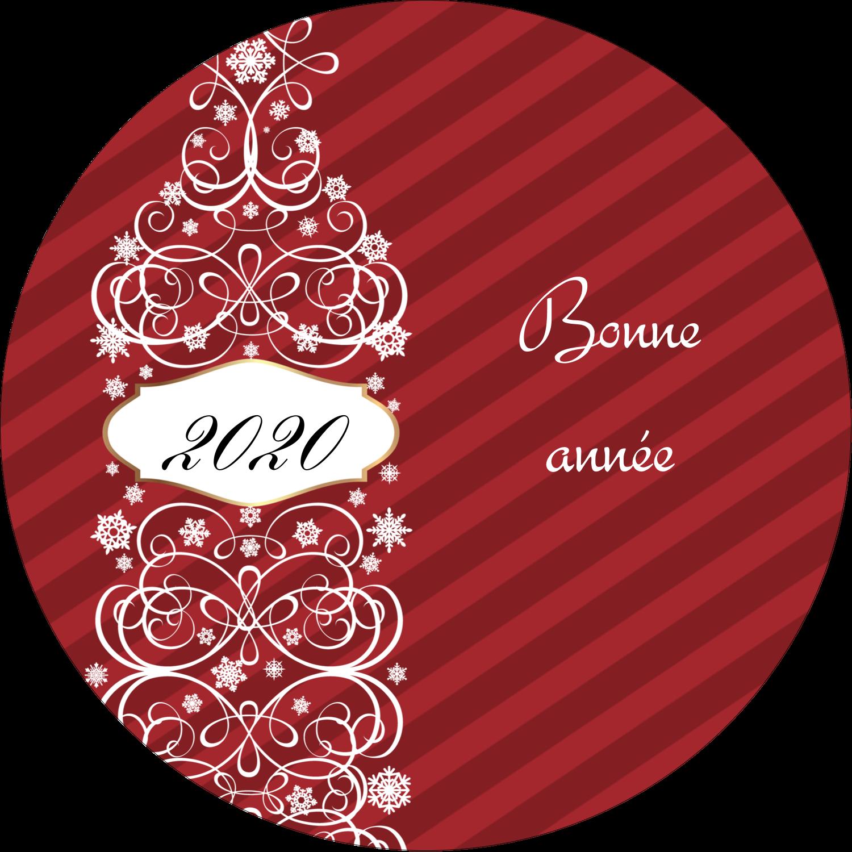 """2¼"""" x ¾"""" Étiquettes Voyantes - Bouteille de champagne en spirale"""