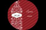 Bouteille de champagne en spirale Étiquettes Voyantes - gabarit prédéfini. <br/>Utilisez notre logiciel Avery Design & Print Online pour personnaliser facilement la conception.
