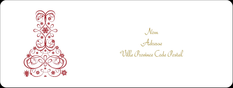 """1½"""" x 4"""" Étiquettes D'Adresse - Bouteille de champagne en spirale"""