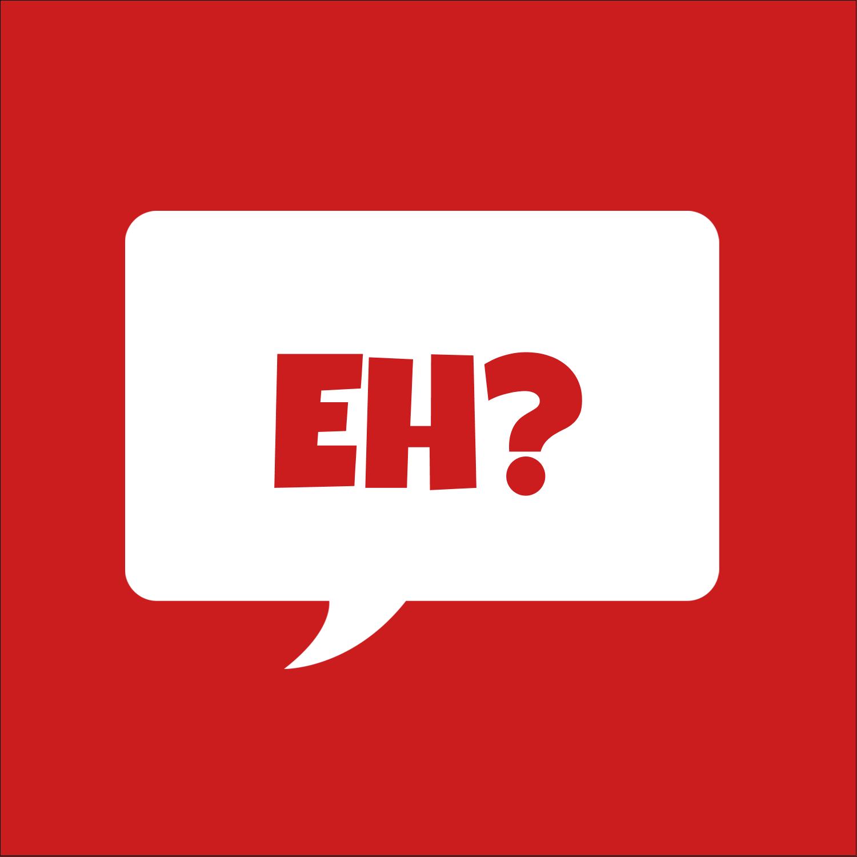"""9¾"""" x 1¼"""" Étiquettes enveloppantes - Parlez-vous canadien eh? (Rouge)"""