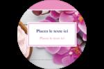 Glaçage et orchidée rose Étiquettes rondes - gabarit prédéfini. <br/>Utilisez notre logiciel Avery Design & Print Online pour personnaliser facilement la conception.