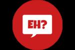 Parlez-vous canadien eh? (Rouge) Étiquettes rondes - gabarit prédéfini. <br/>Utilisez notre logiciel Avery Design & Print Online pour personnaliser facilement la conception.