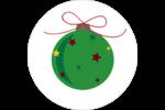 Boule étoilée Étiquettes rondes - gabarit prédéfini. <br/>Utilisez notre logiciel Avery Design & Print Online pour personnaliser facilement la conception.