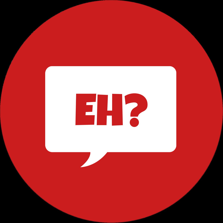"""3"""" x 2¼"""" Étiquettes arrondies - Parlez-vous canadien eh? (Rouge)"""