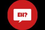 Parlez-vous canadien eh? (Rouge) Étiquettes de classement - gabarit prédéfini. <br/>Utilisez notre logiciel Avery Design & Print Online pour personnaliser facilement la conception.