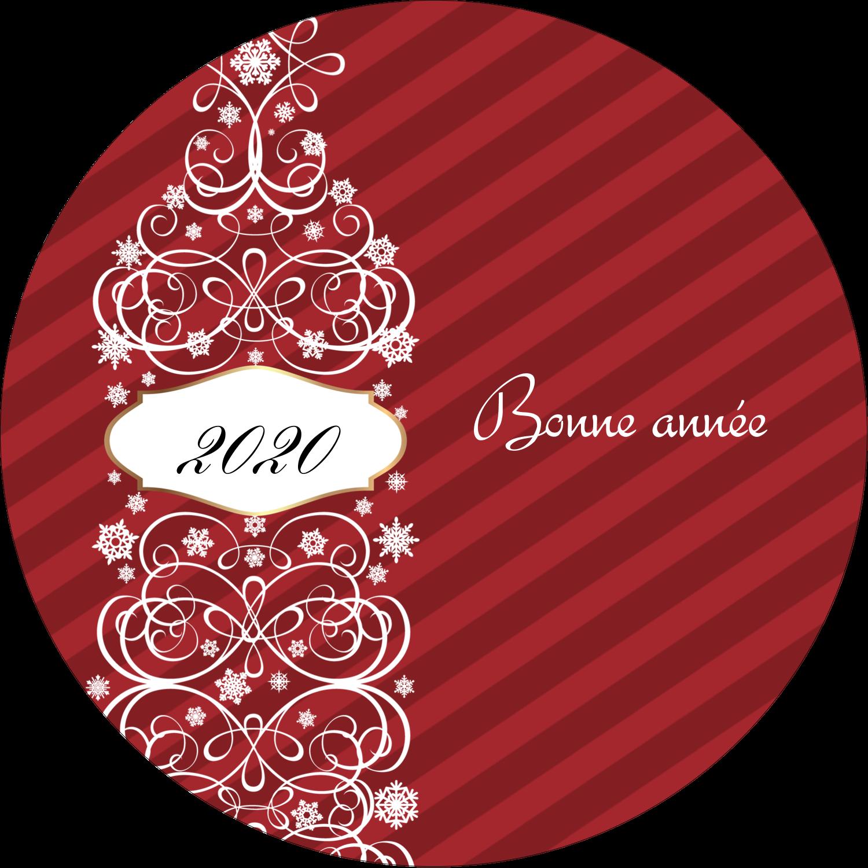 """3-7/16"""" x 15/16"""" Étiquettes de classement - Bouteille de champagne en spirale"""