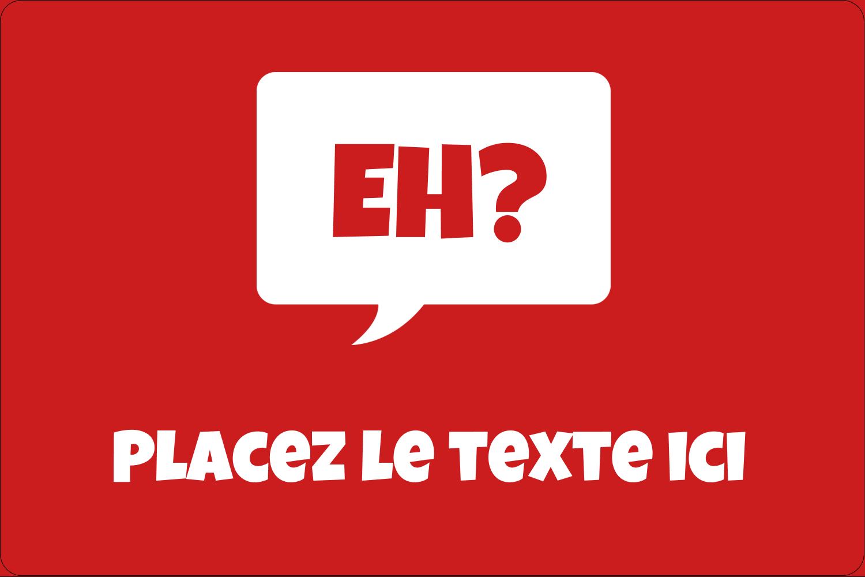 """2"""" x 3"""" Étiquettes rectangulaires - Parlez-vous canadien eh? (Rouge)"""