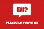 Parlez-vous canadien eh? (Rouge) Étiquettes rectangulaires - gabarit prédéfini. <br/>Utilisez notre logiciel Avery Design & Print Online pour personnaliser facilement la conception.