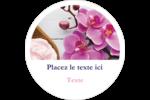 Glaçage et orchidée rose Étiquettes rondes gaufrées - gabarit prédéfini. <br/>Utilisez notre logiciel Avery Design & Print Online pour personnaliser facilement la conception.