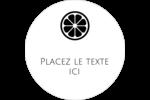 Petite icône d'agrume Étiquettes arrondies - gabarit prédéfini. <br/>Utilisez notre logiciel Avery Design & Print Online pour personnaliser facilement la conception.
