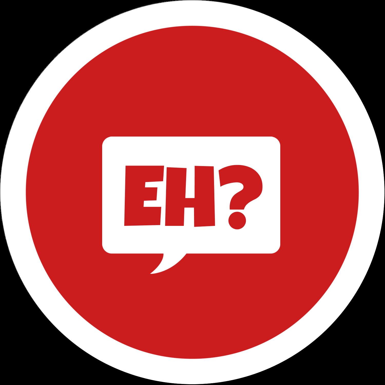 """4¾"""" x 3½"""" Étiquettes arrondies - Parlez-vous canadien eh? (Rouge)"""