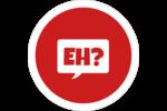 Parlez-vous canadien eh? (Rouge) Étiquettes arrondies - gabarit prédéfini. <br/>Utilisez notre logiciel Avery Design & Print Online pour personnaliser facilement la conception.