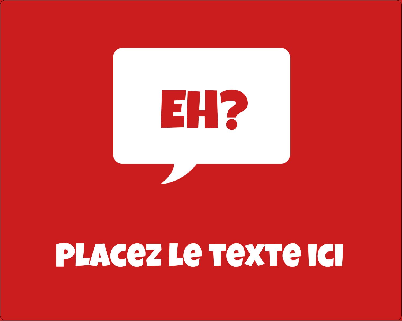 """2"""" Diameter Étiquettes rondes gaufrées - Parlez-vous canadien eh? (Rouge)"""