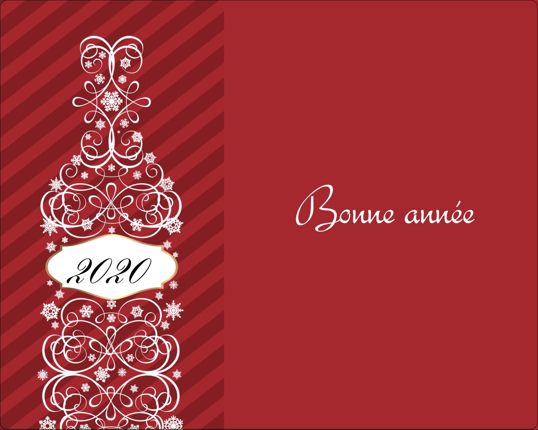 """2"""" Diameter Étiquettes rondes gaufrées - Bouteille de champagne en spirale"""